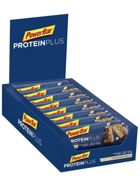 PowerBar ProteinPlus 30% Riegel Box Cappuccino Caramel Crisp 15 x 55g